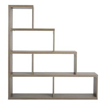 estantería escalera de madera forma de almacenamiento pantalla 6