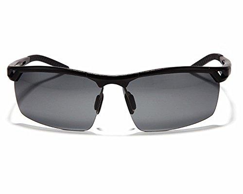 Monture homme Noir Lunettes Style soleil de polarisantes en sport pour métal P6aUBqW6