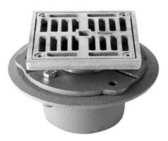 """Mountain Plumbing MT506P-PVDBB PVD Brushed Bronze Universal 4"""" Square PVC Shower Drain with Solid Nickel Bronze Top"""