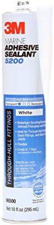 3M Marine Adhesive Sealant 5200 White, 06500, 1/10 gal (Pack of 1)