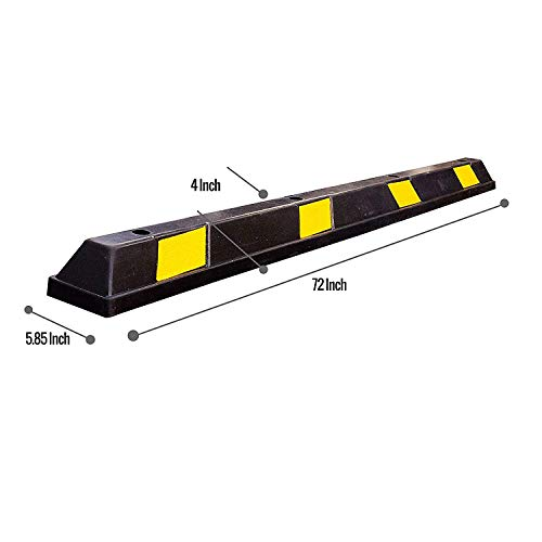 RK-BP72 Heavy Duty Rubber Parking Curb, Parking Block, 72 -inch for Car, Truck, RV and Trailer Stop Aid with 4-Piece Anchor Kit by RK (Image #6)