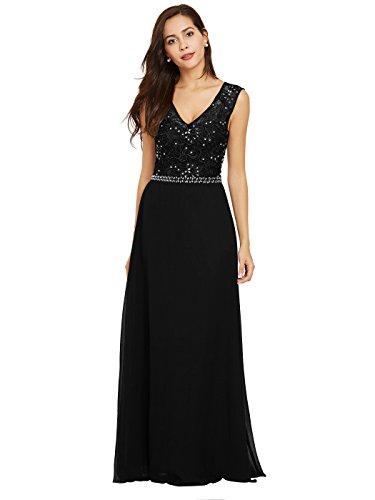 long black evening dress size 12 - 2