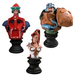 MOTU Masters of the Universe Teela, Mekanek, Man-At-Arms Mini Busts, SDCC 2006 Exclusive - Exclusive Mini Bust