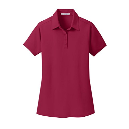 Port Authority Ladies Dimension Polo, Red Rush, X-Small