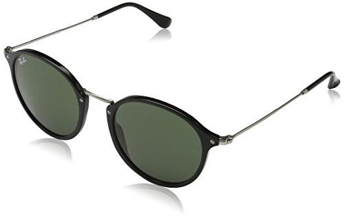 Ray-Ban Acetate Man Sunglasses - Black Frame Green Lenses 52mm - Sunglasses Ray Protected Are Uv Ban