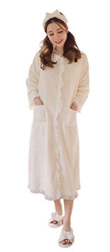 Soojun Womens Button Fleece Housecoats