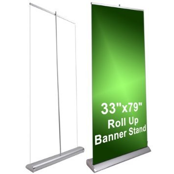 33'' x 79'' Luxury Rollup Retractable Banner Stand by Unitech