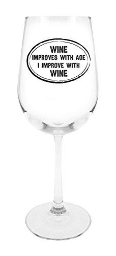 Santa Barbara Design Studio WIN22-2510P JKC Long Stem Wine Glass, Improves with Age (Old Time Santa)