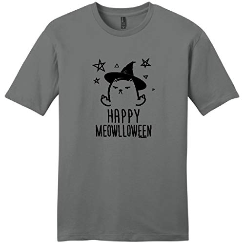 Halloween Lover Funny Cat Halloween Top Funny Happy Meowlloween Witch Cat Young Mens T-Shirt 3XL -