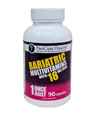 ProCare Health 18mg Iron Bariatric Multivitamin Capsule 90ct (3 Month Supply)