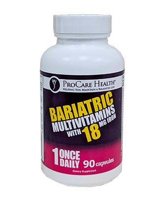 ProCare Health 18mg Iron Bariatric Multivitamin Capsule 90ct 3 Month Supply