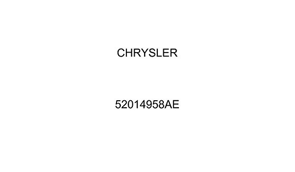 Genuine Chrysler 55116489AA Air Conditioning Heater and Vacuum Line