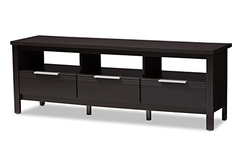 Baxton Studio 146-424-A8294-AMZ Mayen TV Stand, Wedge Dark Brown
