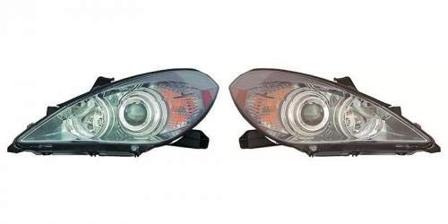 (Go-Parts PAIR/SET OE Replacement for 2007-2008 Toyota Solara Headlights Headlamps Assemblies Front - Left & Right (Driver & Passenger) TO2502186 TO2503186 81150-06422 81110-06422)
