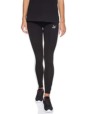 PUMA Women's Classics Logo T7 Legging, (Black 01), Large