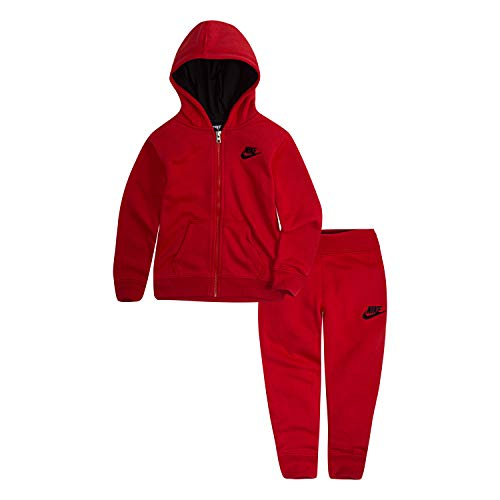 NIKE Children's Apparel Baby Boys Hoodie and Joggers 2-Piece Outfit Set, University Red, 24M (Nike Outfit)