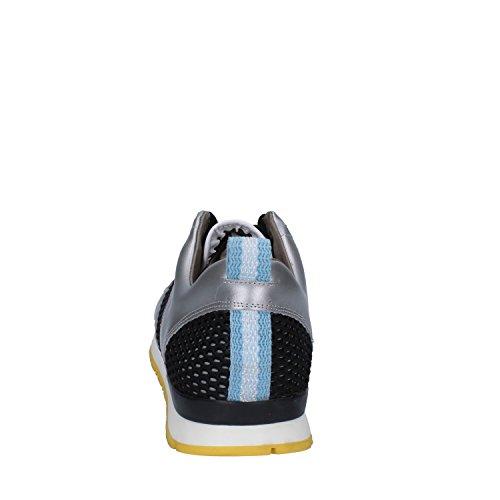 D.A.T.E. Date Baskets Femme 37 EU Blanc Argent Textile Cuir Km5Ispf7Nv