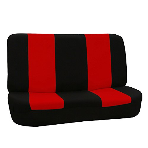 red and black bench seat cover - 5