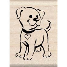 - Puppy Wood Mounted Rubber Stamp