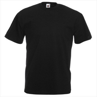 Fruit of the Loom - Classic T-Shirt 'Value Weight' 4X-Large,Black