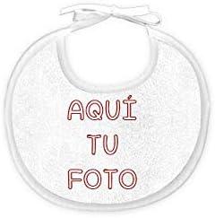 Babero personalizado con foto para beb/é 0 a 6 meses