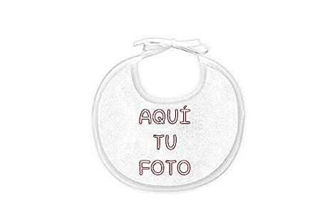 Babero personalizado con foto para bebé (0 a 6 meses ...