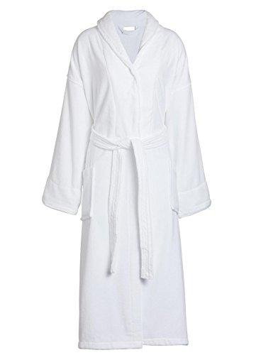 Cotton Terry Velour Shawl (Goza Towels Unisex Shawl Bathrobe Cotton Terry Velour Cloth Robe (One Size, White))