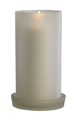 Biedermann & Sons Glass Hurricane Candle Holder, Frosted