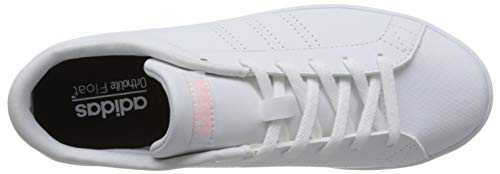 0 Advantage Clean White Footwear Damen Footwear Weiß adidas QT Clear White Sneaker Orange Eq7x5w