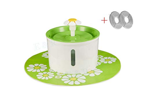 Cat Fountain Large Drinking Bowl Cat Automatic Feeder Pet Water Dispenser,Green Combo,AU Plug,1.5L -