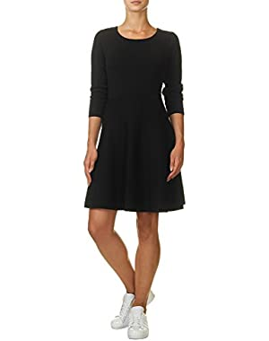 Jessica Simpson Women's Women's Black Skater Dress in Size M Black