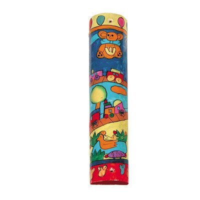 Yair Emanuel Small Mezuzah Scroll Case For Door - Toy Design (MZS-9) by Emanuel (Image #1)