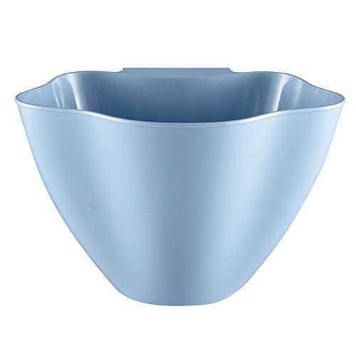 Bigmai 1 Cesta de Basura para Colgar Creativa y Reutilizable, 3 Colores Opcionales, Azul, 21x16x14cm