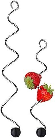 WMF Basic Fruchtspieße, 2-teilig, 18 cm und 24 cm, Cromargan Edelstahl, spülmaschinengeeignet
