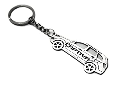 Llavero con anillo para Chevrolet Captiva II acero clave ...