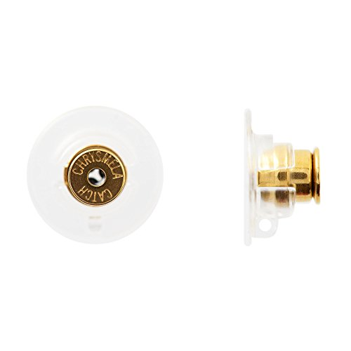 Chrysmela Lift and Lock Yellow Gold Replacement Earring Back Earring Lifter for All Types of Earring Posts auto Adjustable auto Locking Hypoallergenic Patented in US UK France Italy and Japan
