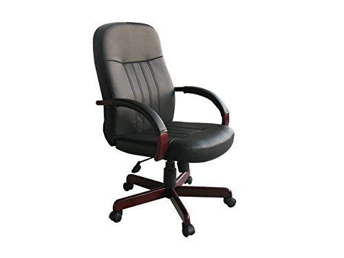 Office Choices Norstar Leatherplus Exec. Chair W/ Mahogany Finish - Exec Office Chair