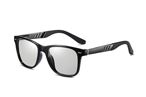 FEISEDY Vintage Polarized Photochromic Sunglasses Men Women 100% UV Protection Outdoor Square Sunglasses ()