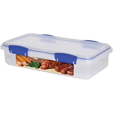 Sistema Klip It Collection Deli Storer Food Storage Container, 59 Ounce/7 Cup
