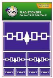 Iroquois Native Flag Set of 7 Different Size Decal Stickers ... New in Package