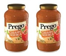 Prego Creamy Vodka Italian Sauce, 24 Oz. (Pack of 2) Gluten free (Creamy Vodka Sauce)