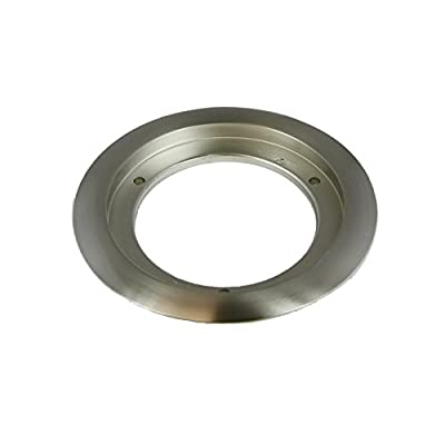 Enerlites Round Hard Metal Recessed Flanges, and Mounting Rings for Four Inch Diameter Floor Box Covers