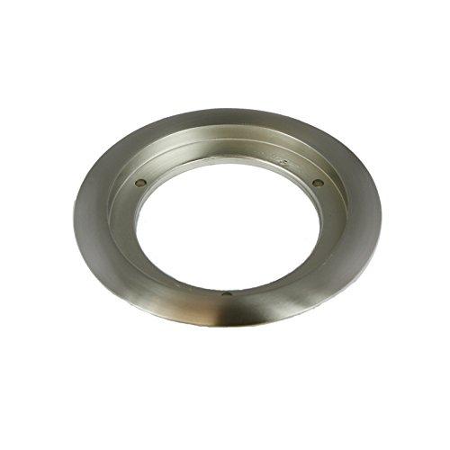 Enerlites 975518-S 5.25'' Nickel Plated Brass Recessed Flange, Fits Round 4