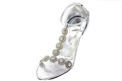 Wear & Walk UK - Zapatos de tacón  mujer plata
