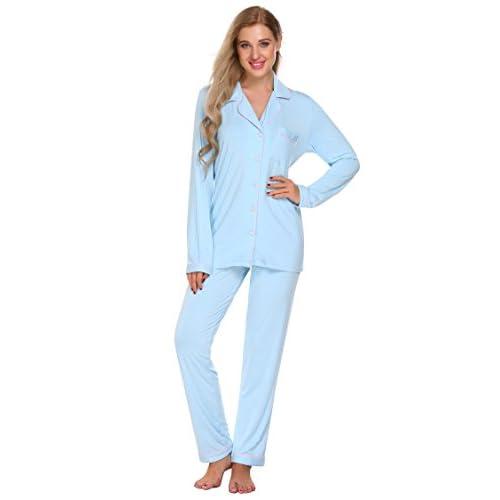 on sale PEATAO Women s Cotton Pajamas 64420377c