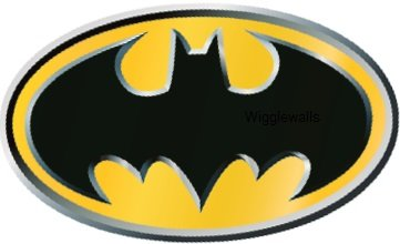 3 Inch Batman Logo Symbol Bat Signal Man Dark Knight DC Comics Justice League Beyonad Begins Forever Origins Returns Removble Wall Decal Sticker Art Home Decor -2 1/2 Inch x -