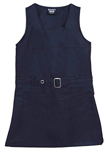 Navy Twill Club ('Beverly Hills Polo Club Girls School Uniform Belted Twill Jumper, Navy, Size 10')