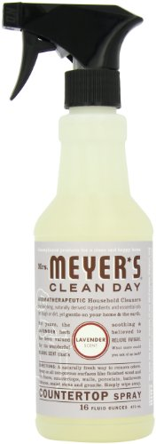 Mrs. Meyer's Clean Day Counter Top Spray, Lavender, 16-Ounce Bottles (Case of 6) - Mrs Meyers Countertop Spray Lavender
