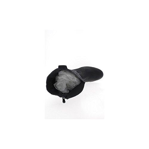 Chaussmoi De Strass Talons 3 Noires Bottes Avec 5cm Femme À Matière Bi XXgr6