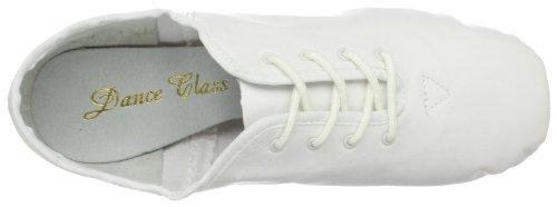 Danse Classe Femmes J303 Split Semelle Jazz Chaussure Blanc